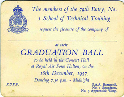 79th entry halton apprentices click to enlarge graduation ball invitation stopboris Image collections